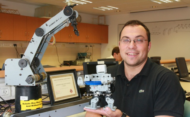 Podolsky in the Technion lab. Photo courtesy of the Technion-Israel Institute of Technology