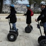 Strap on a bike helmet and see Jerusalem by Segway. Photo by Flash90.