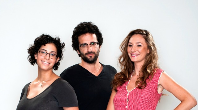 Shir Hanamal founders, from left, Shir Halpern, Roee Hemed and Michal Ansky.