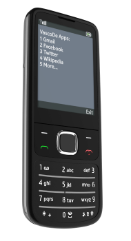 VascoDe lets you access Web apps with a simple phone.