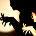 Puppeteer Valeria Guglietti stages a shadow performance for the whole family.
