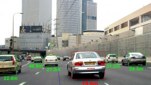 Mobileye develops camera-based systems that help drivers keep passengers safe on the roads. Photo: courtesy