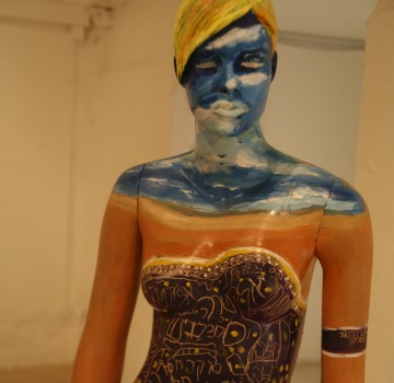 This mannequin was designed by Adi Schwartz, an artist with autism. Photo by Daria Frost