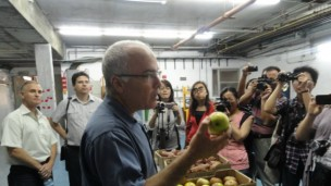 Lichter explains the difference between treated and untreated apples.