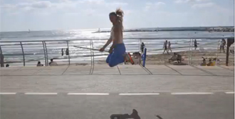 'Witch From Tel Aviv' Patricia Maya Wilczak shows off her flying skills in YouTube brooming video.