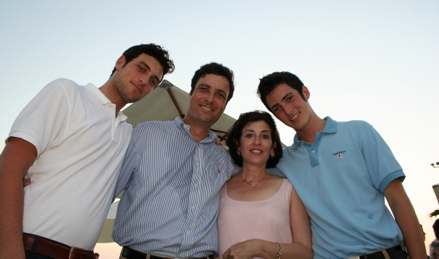 The Fisher family, from left: Gidi, Itzhak, Ruth, Ron.