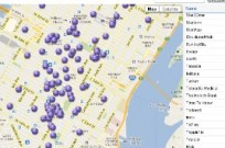 A map of Israeli companies in New York.