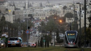 The Light Rail System in Jerusalem. Photo by Flash90.