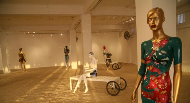 Mannequin in foreground is by Lena Revenko. Photo by Daria Frost