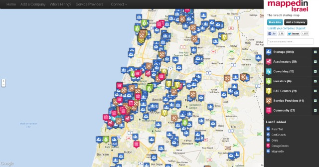 The site, Mapped in Israel, by Ben Lang.