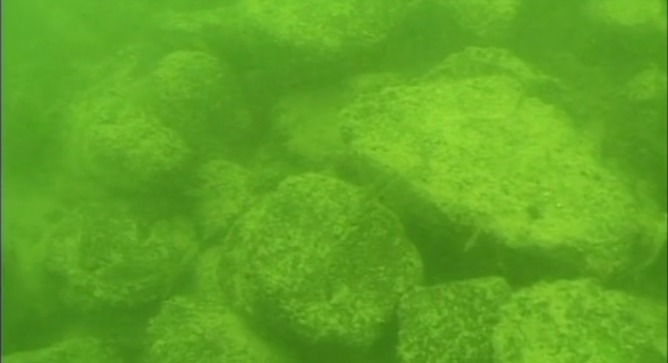 Mounds underwater