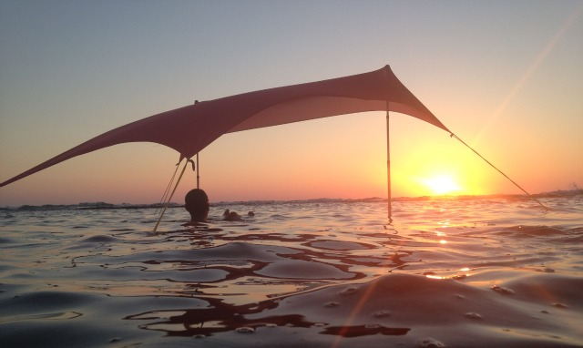 This Sunshade Can Even Be Set Up In The Water.