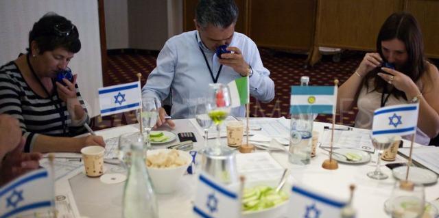 Tasters at the 2013 Terra Olivo International Mediterranean International Extra Virgin Olive Oil Competition.