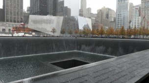 The World Trade Center memorial. Photo courtesy of Wikipedia Commons.