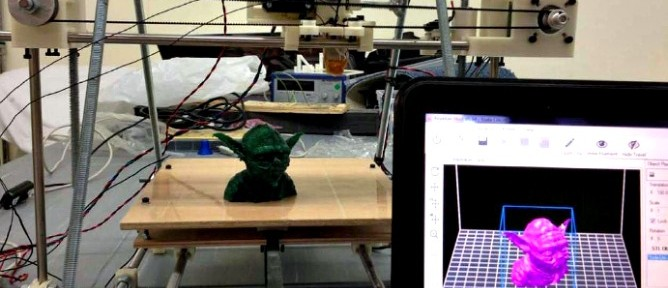 How Yoda goes from computer image to printed object.
