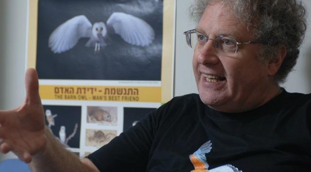 Prof. Yossi Leshem, Israel's foremost bird expert.