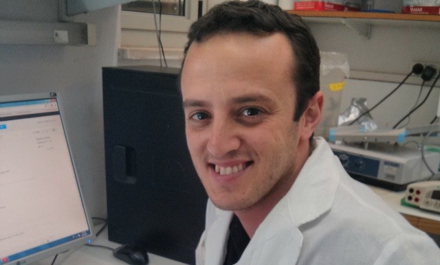 PhD student Yotam Bar-On is seeking a new way of treating the flu. Photo courtesy of the Hebrew University