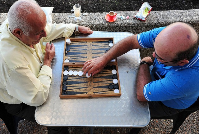 In Israel, backgammon is a favorite past time for all. (Shutterstock)