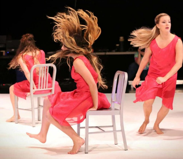 Dancers perform Pulvermacher's Air & Hair. Photo by Ani Collier
