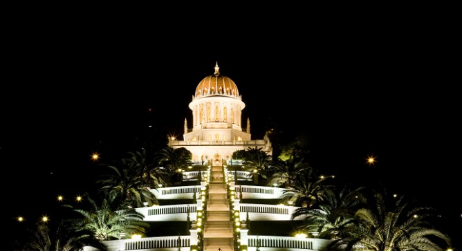 A model of order and balance: The Baha'i Gardens. Image via Shutterstock.com