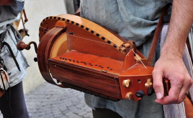 Medieval hurdy-gurdy. Image via shutterstock.com