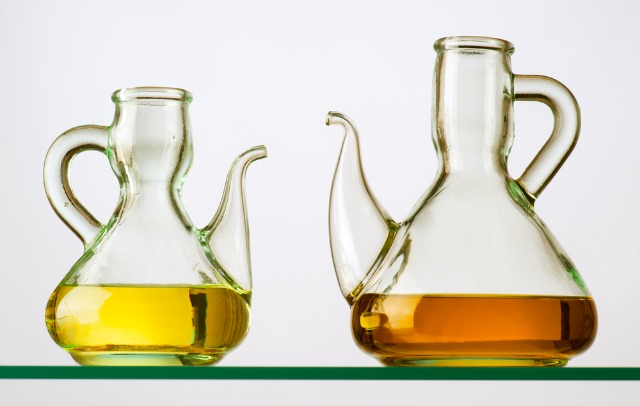 Oil on shelf. Image via shutterstock.com