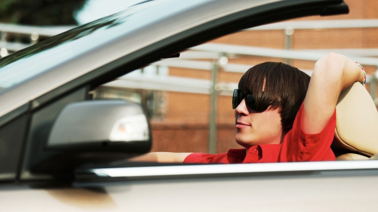 Israeli study shows male novice drivers make frequent and serious mistakes listening to their preferred music in the car. (Shutterstock)