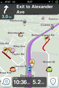 Waze in action.