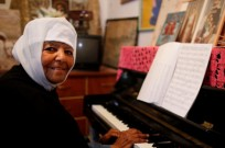 Emahoy Tsegue-Mariam Gebru at the piano. Photo by Tal Shachar/Jerusalem Season of Culture