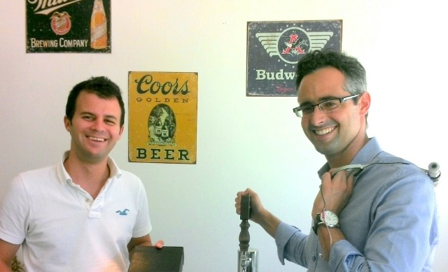 Ori Fingerer, left, and Omer Agiv are turning beer analytics into a business.