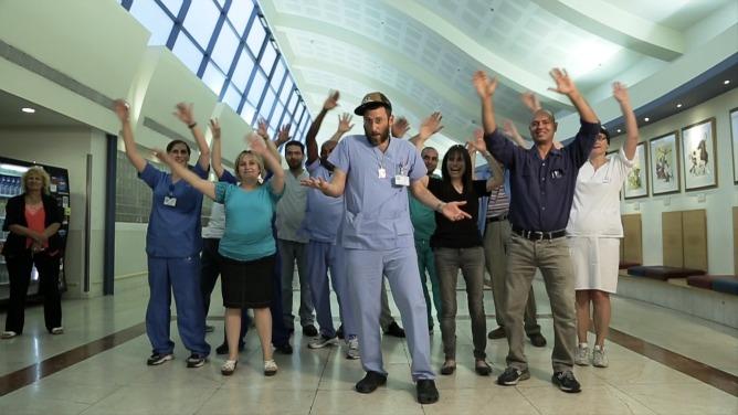 Doctors dancing