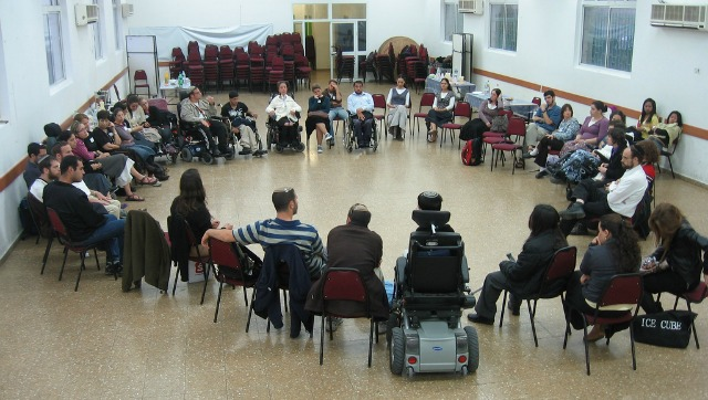 Inbar's monthly meetings include relationship-building workshops and time to mingle.