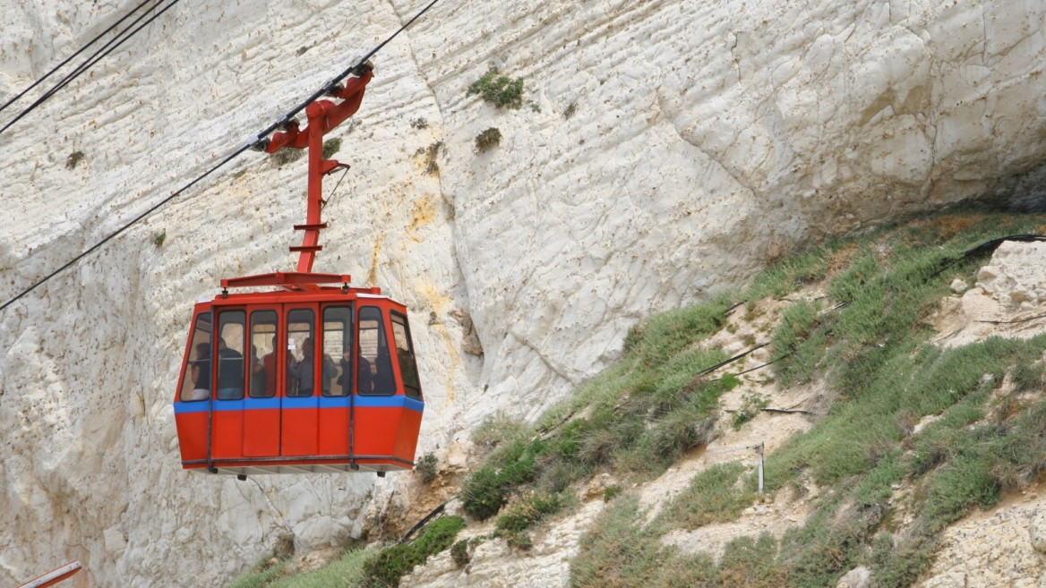 Rosh Hanikra cable car photo via Shutterstock.com