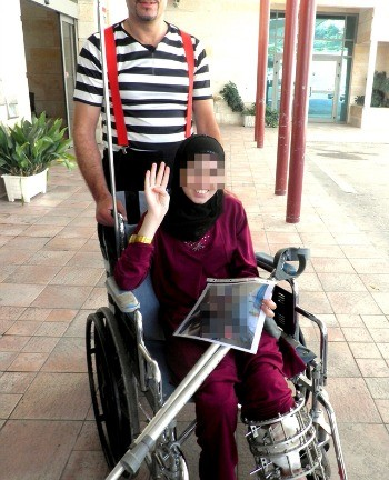 Syrian teen leaves Ziv Medical Center.