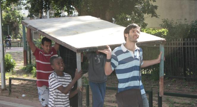 ISEF scholarship students found community service opportunities through Tze'ela improvement teams.