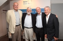 From left, Nobel Laureate Prof. Bert Sakmann; Hebrew University of Jerusalem Prof. Haim Sompolinsky; Columbia University Prof. Larry Abbott; and Dr. Rafi Gidron, founder and chairman of Israel Brain Technologies, at BrainTech Israel 2013. Sompolinsky won IBT's inaugural Mathematical Neuroscience Prize.