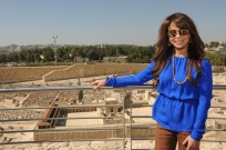 Singer-dancer Paula Abdul at the Israel Museum in Jerusalem. (Ofrit Rozenberg Ben-Menachem)