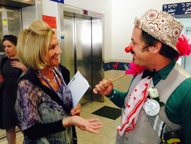 Therapeutic clown Professor Sancho charms Susan Libitzky