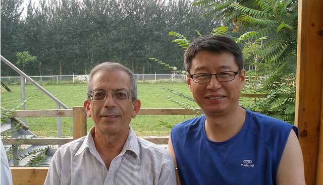 AfiMilk's Pinhas Gur and Charles Zhou, AfiMilk China general manager.