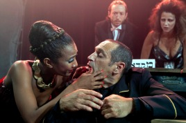Ruti Asrasi is playing Lady Macbeth in the Cameri Theater's production of the Shakespeare play.