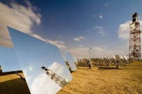 BrightSource heliostat fields generate solar thermal energy.