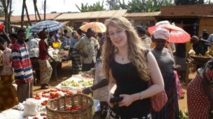 Caylee Talpert from the Pears Program at the Harold Hartog School of Government and Policy at Tel Aviv University, in Rwanda.