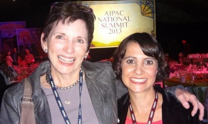 ISRAEL21c President Amy Friedkin with Inbal Arieli of the Gammado high-tech incubator.