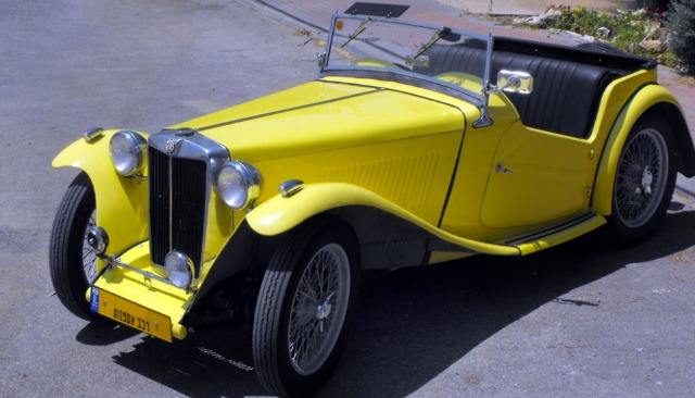 An Israeli owns this vintage MG TC.