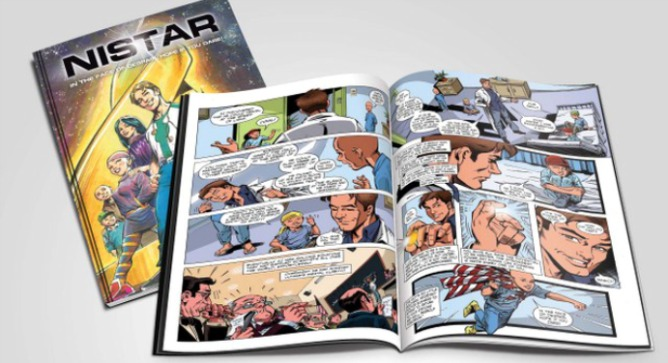 Shira Frimer created Dr. JJ Barak, a superhero starring in her Nistar graphic adventure novel. Many would say she's a superhero herself.
