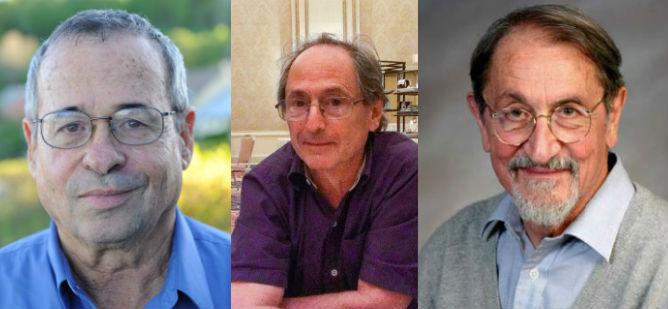 From left to right, Nobel Prize winners Arieh Warshel, Michael Levitt, and Martin Karplus.