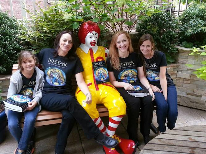 Shira Frimer, second from right, at the launch of Nistar at Ronald McDonald House in New York.