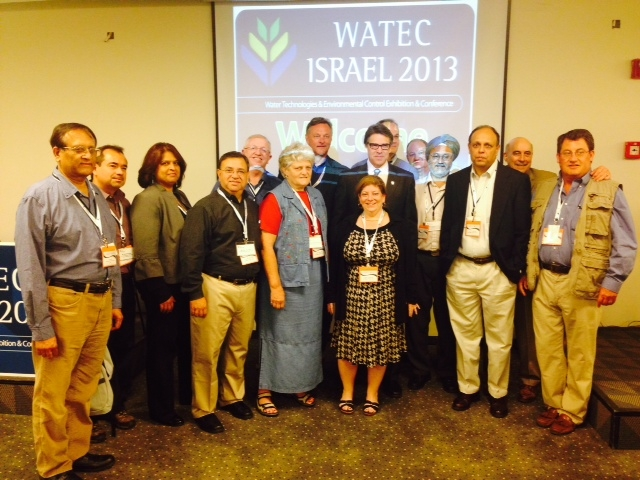 Texas water from AJC's Project Interchange met with Israeli companies at WATEC to discuss areas of possible cooperation. The delegation, including Texas water experts and officials met with