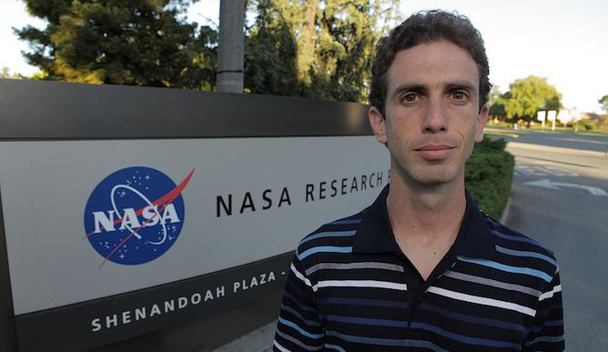 Erez Livneh at NASA's Ames Research Base. Photo by Matt Rutherford.