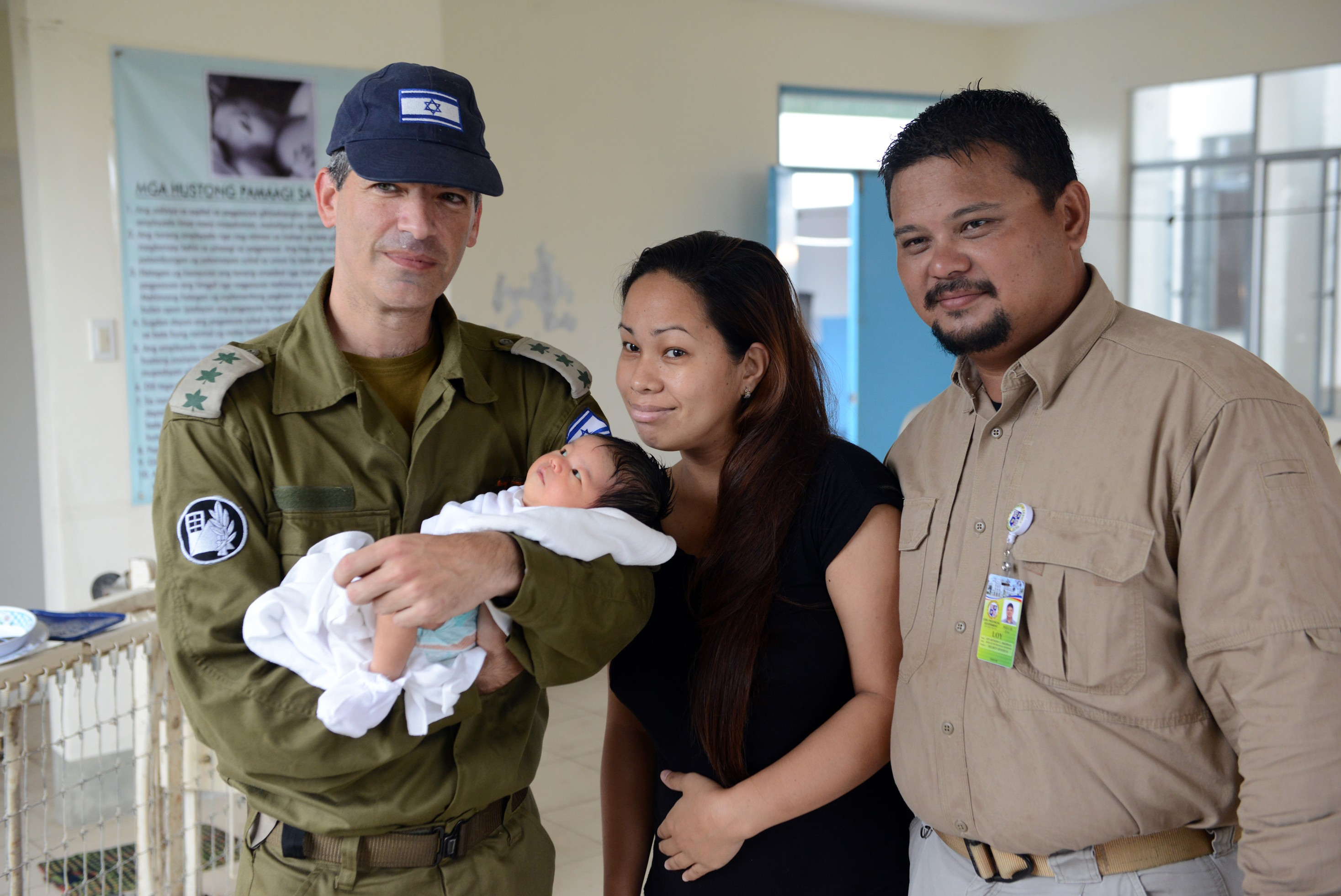 Louis, the head of security in Cebu, named his daughter Shai, after IDF Military Attaché to the Philippines Col. Shai Brovender. (IDF Spokesperson's Unit)